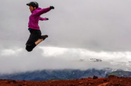 Yoga mtb women in Iceland