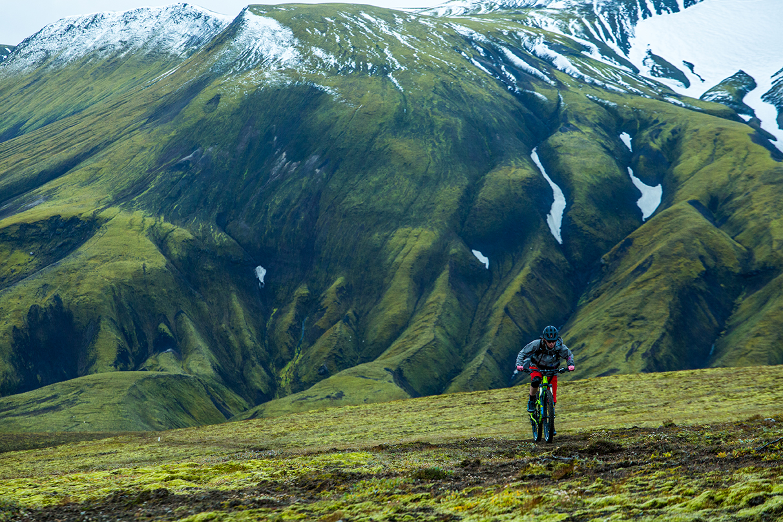 women rides in iceland